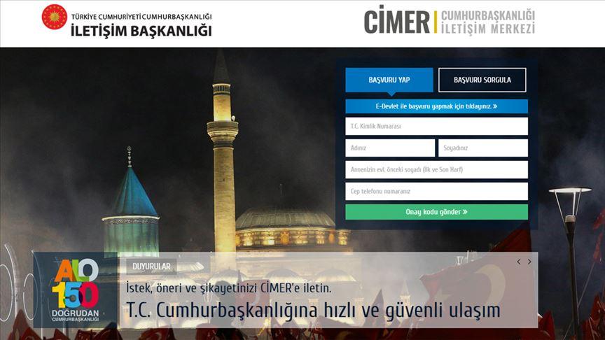 CİMER'den kamu spotu