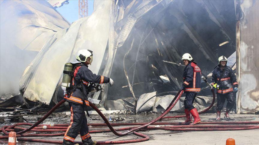 Başkentte depoda yangın çıktı!