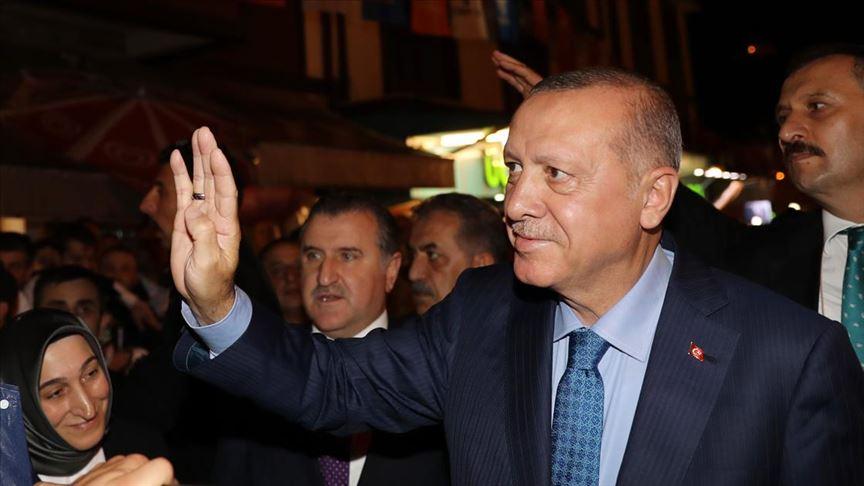 Cumhurbaşkanı Erdoğan Güneysu'da...