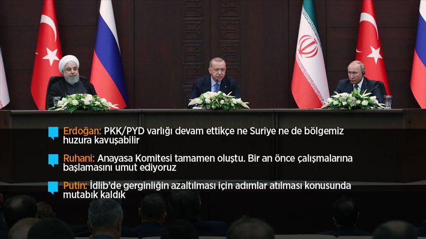 Cumhurbaşkanı Erdoğan: Suriye'nin istikbali için en büyük tehdit kaynağı YPG/PYD'dir