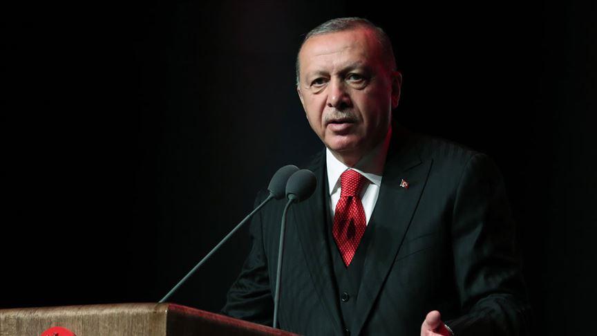 Cumhurbaşkanı Erdoğan konuşuyor..