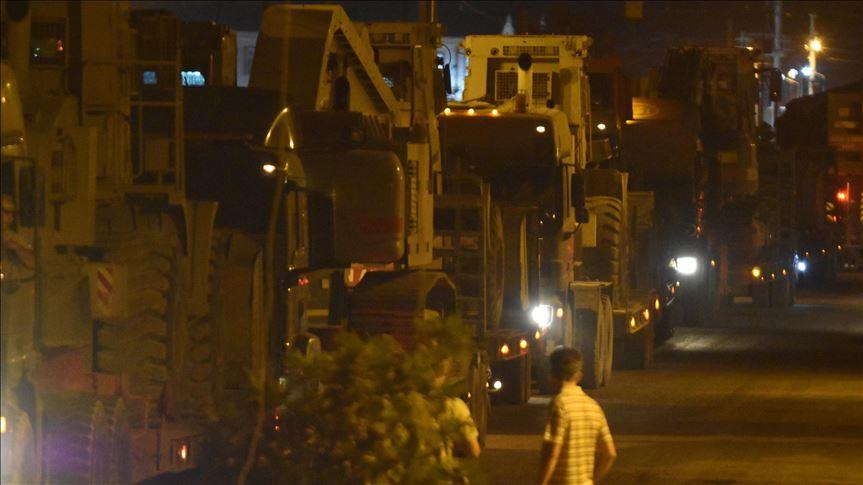 Suriye sınırına yaklaşık 130 araçlık konvoy