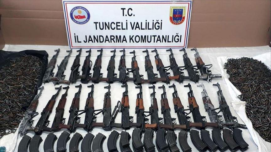 Tunceli'de teröristlere ait 2 silah deposu ele geçirildi!