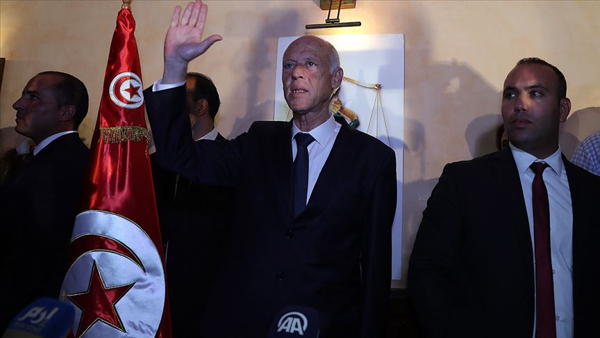 Tunus'un yeni cumhurbaşkanı Kays Said oldu!