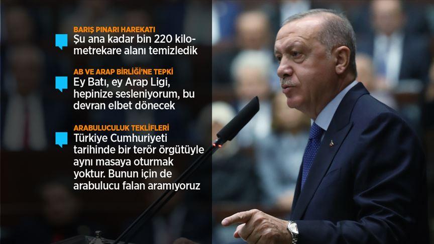 Cumhurbaşkanı Erdoğan: Teröristler güvenli bölgeden çıktığında harekat sona erer