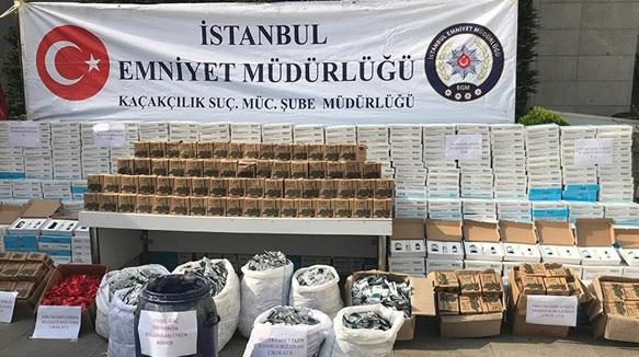 İstanbul polisinden kaçakçılık operasyonu