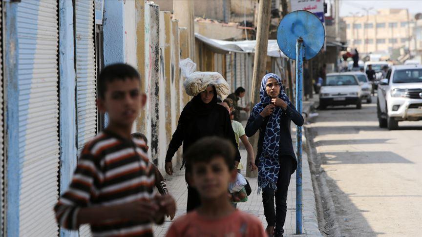 Tel Abyad'da terörün izleri hızla siliniyor...