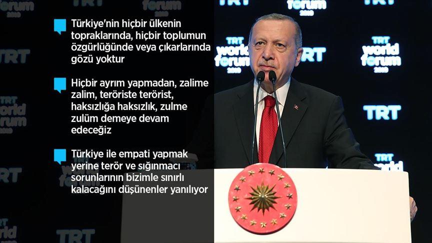 Cumhurbaşkanı Erdoğan: Hiçbir zaman terör örgütüyle masaya oturmadık ve oturmayacağız