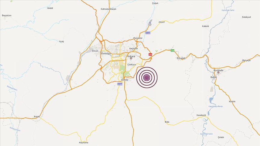 Başkentte 3,4 büyüklüğünde deprem
