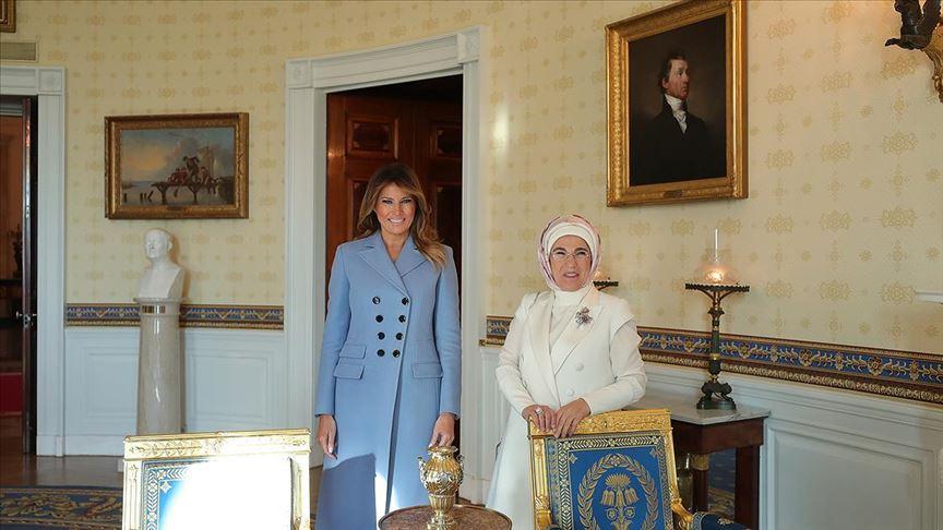 Emine Erdoğan'dan ev sahipliği için Melania Trump'a teşekkür