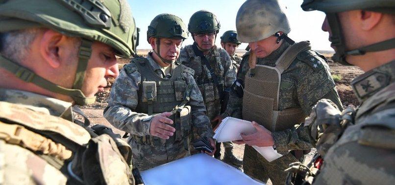 Türk ve Rus askerinin yedinci ortak kara devriyesi tamamlandı
