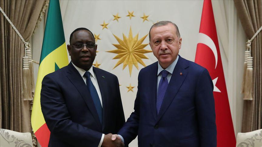 Cumhurbaşkanı Erdoğan Senegal Cumhurbaşkanı Sall ile görüştü