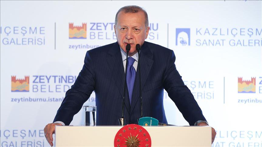 Cumhurbaşkanı Erdoğan: Medeniyetler kültür ve sanat değerleri üzerinde yükselir