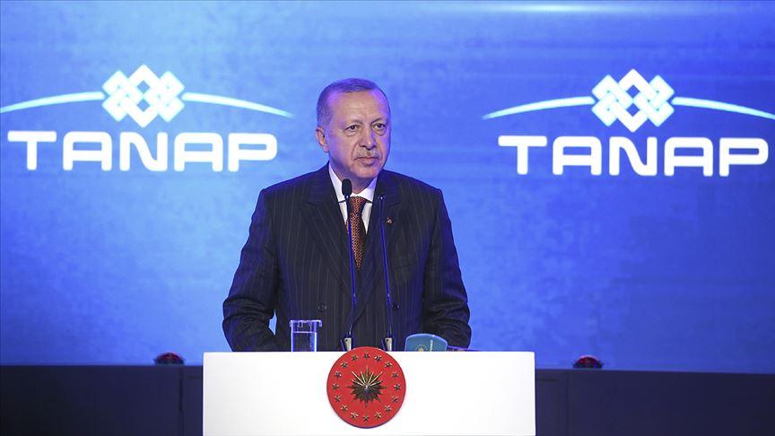 Cumhurbaşkanı Erdoğan: TANAP ülkemizin barışçıl vizyonunun en somut nişanesidir