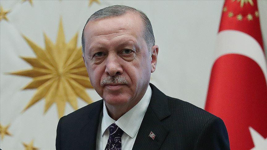 Erdoğan'dan şehit polisin ailesine başsağlığı mesajı