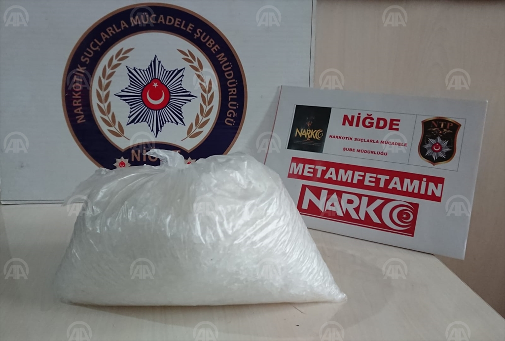 Niğde'de 800 gram sentetik uyuşturucu ele geçirildi