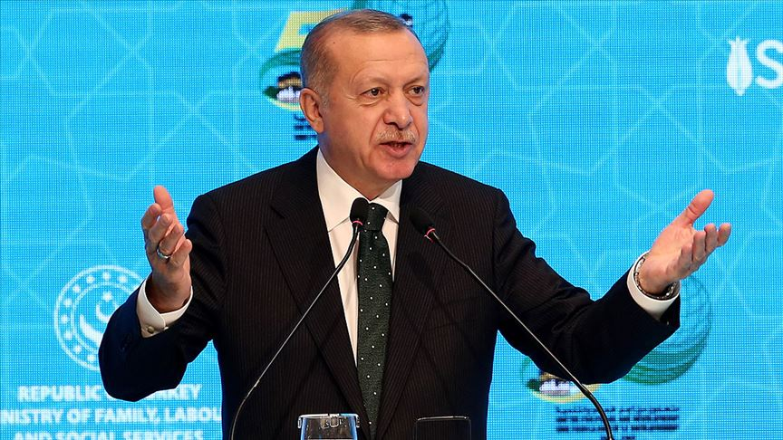 Erdoğan: (Macron'a) Alma mazlumun ahını çıkar aheste aheste