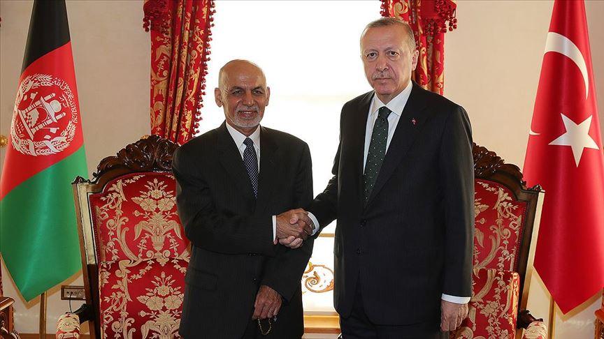 Erdoğan Afganistan Cumhurbaşkanı Eşref Gani ile görüştü