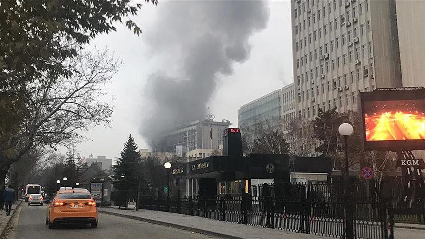 DSİ Genel Müdürlüğü'nde çıkan yangın söndürüldü