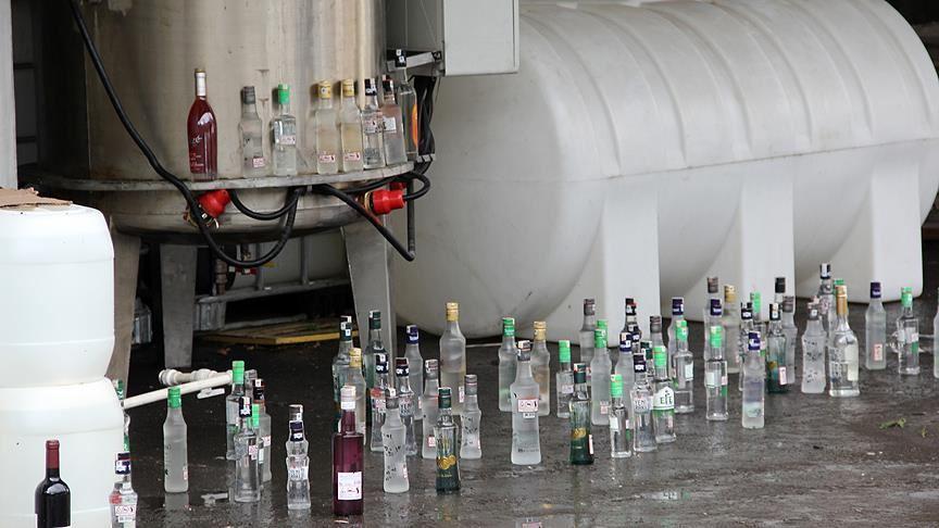 Malatya'da 6 ton sahte rakı ele geçirildi!