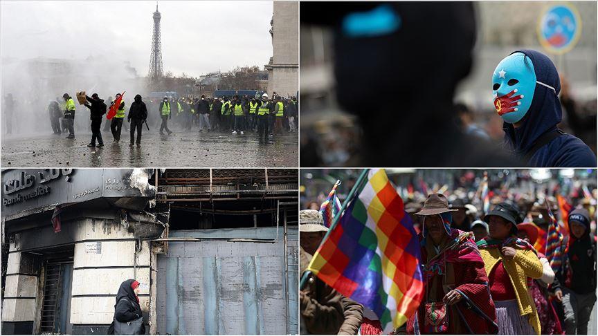 2019 dünyada 'sokak protestolarının yılı' oldu!