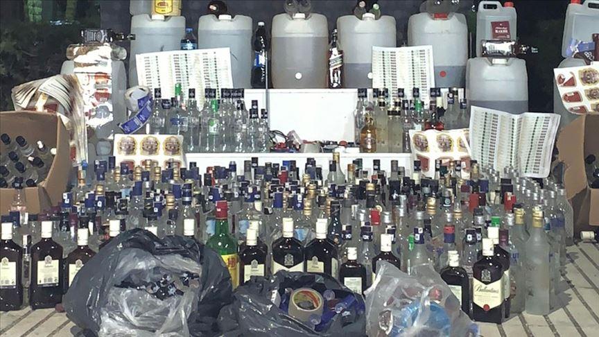 Hatay'da 427 şişe kaçak içki ele geçirildi!