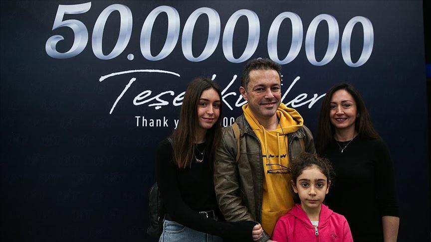 İstanbul Havalimanı 50 milyonuncu yolcusunu ağırladı!