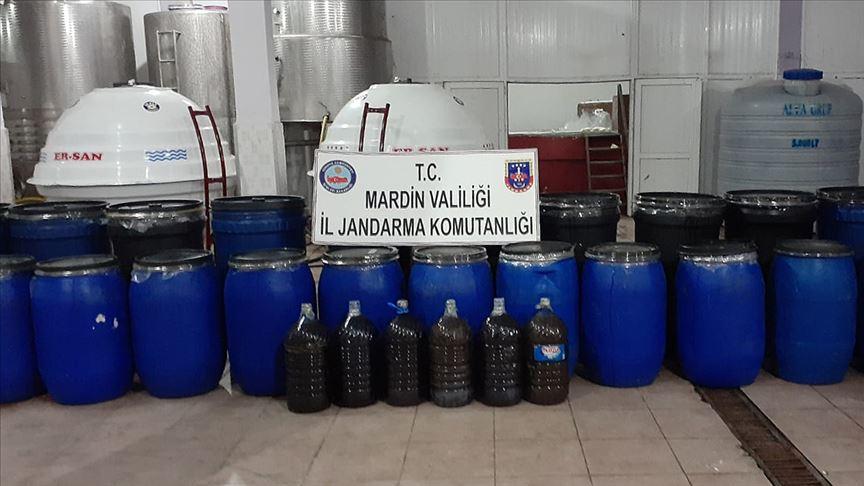 Mardin'de 117 bin 800 litre kaçak içki ele geçirildi!