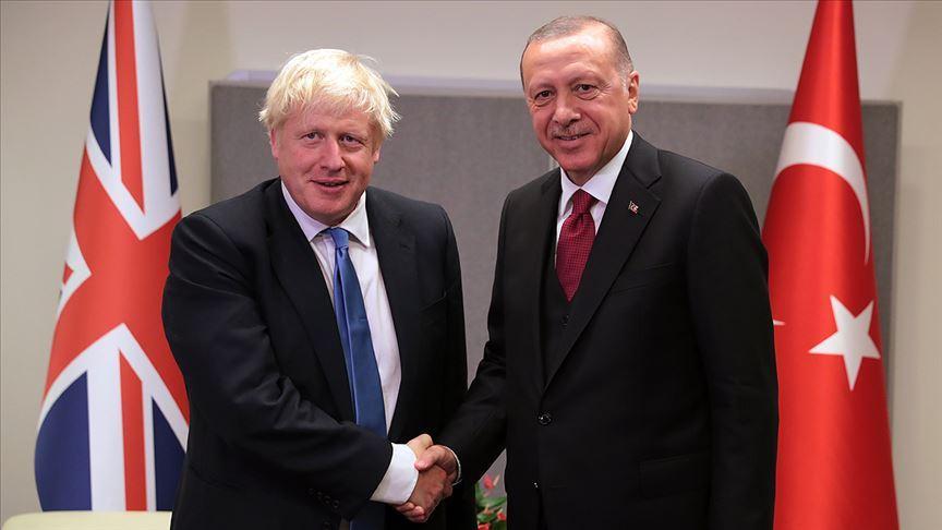 Erdoğan ile Johnson görüştü!