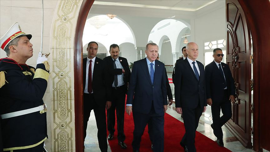 Cumhurbaşkanı Erdoğan Tunus'ta..