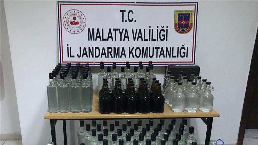 Malatya'da 230 litre sahte içki ele geçirildi!