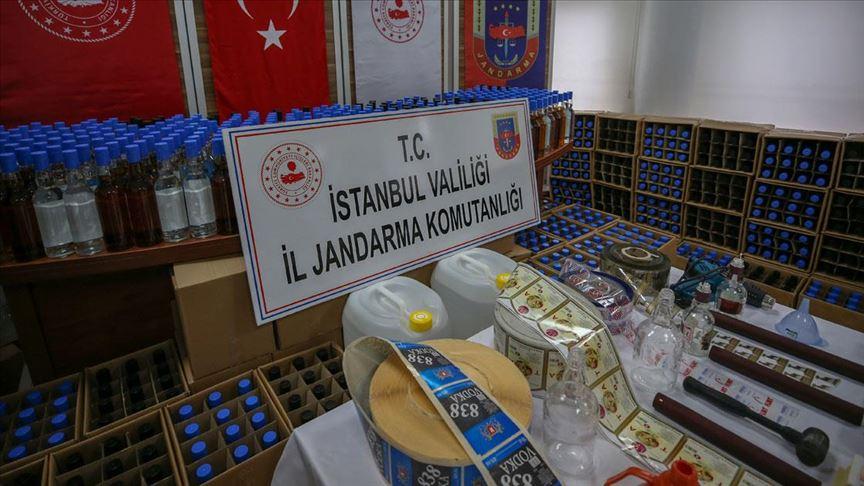 'İstanbul'da Sahte İçki Operasyonu'