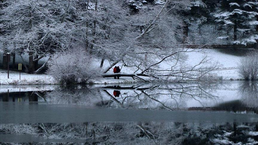 ...Abant ve Gölcük'te kar güzelliği...