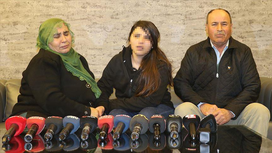 Ailesine kavuşan kız 14 yaşında dağa nasıl kaçırıldığını anlattı