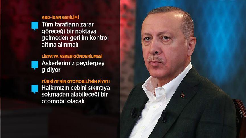 Cumhurbaşkanı Erdoğan: ABD-İran gerginliğinin azaltılması için çok ciddi gayretler gösteriyoruz