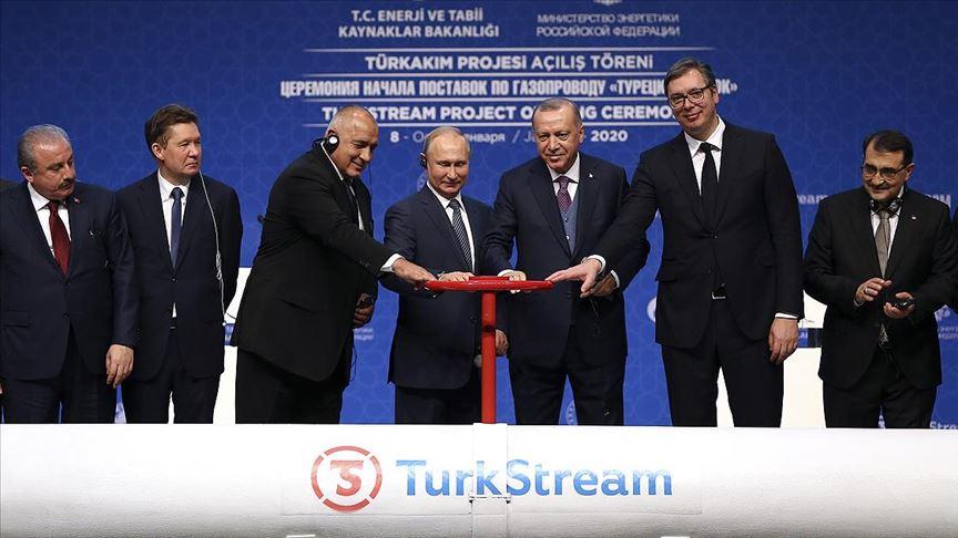 TürkAkım doğal gaz boru hattı açıldı!