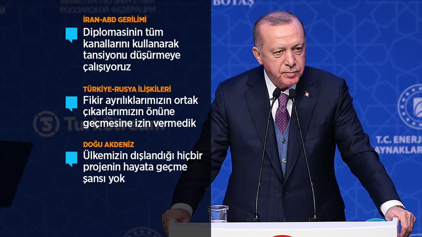 Erdoğan: Hiç kimsenin kendi çıkarları uğruna tüm bölgeyi yeni bir ateş çemberine atmaya hakkı yok