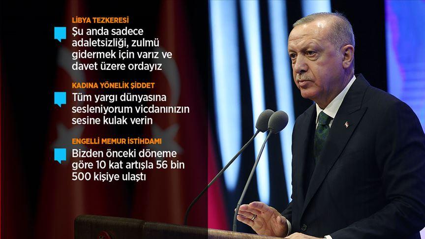 Cumhurbaşkanı Erdoğan: Kifayetsiz muhterislere en güzel cevabı milletimiz verecektir