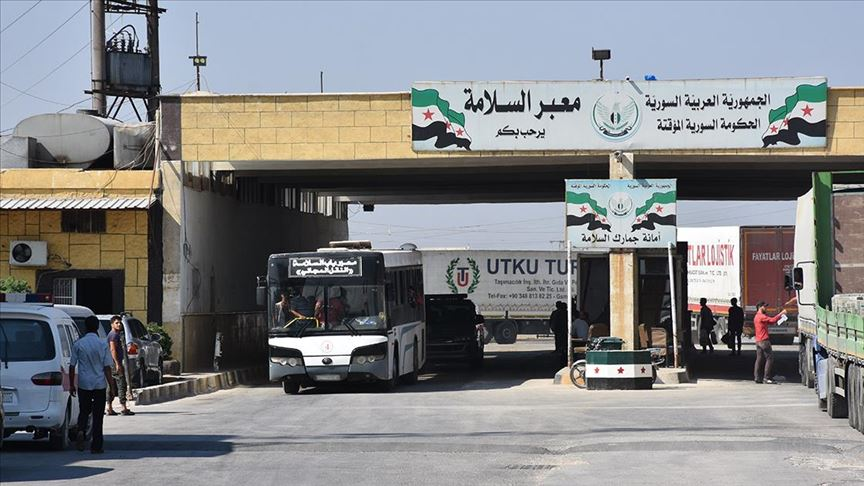 Suriye'ye insani yardımların gönderildiği sınır kapıları ikiye indirildi