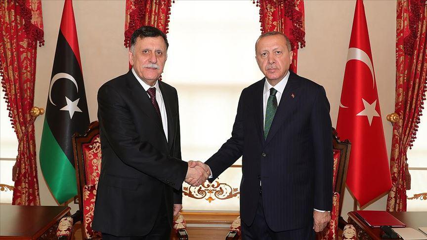 Erdoğan, Libya UMH Başkanlık Konseyi Başkanı Serrac'ı kabul etti!