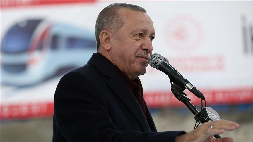 Erdoğan'dan Gayrettepe-İstanbul Havalimanı Metrosu paylaşımı