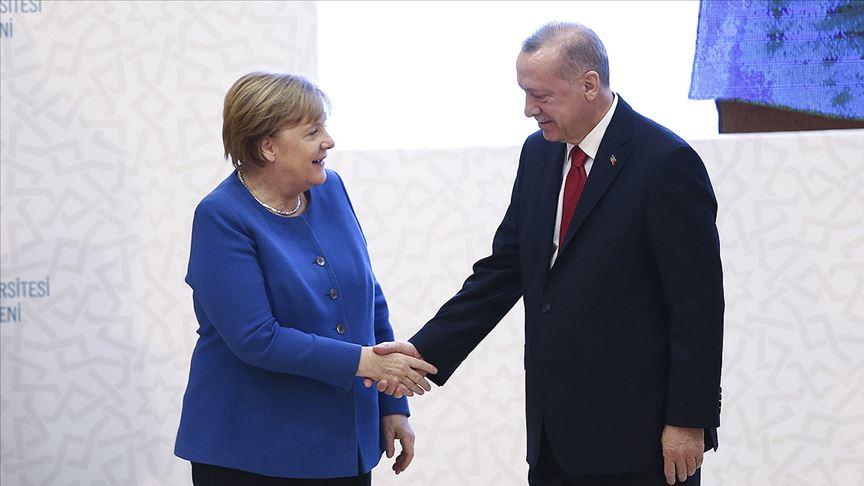 Erdoğan-Merkel görüşmesi başladı!