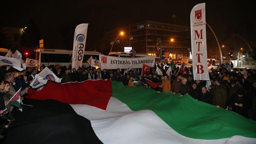 Ankara'da ABD'nin sözde Orta Doğu barış planı protesto edildi