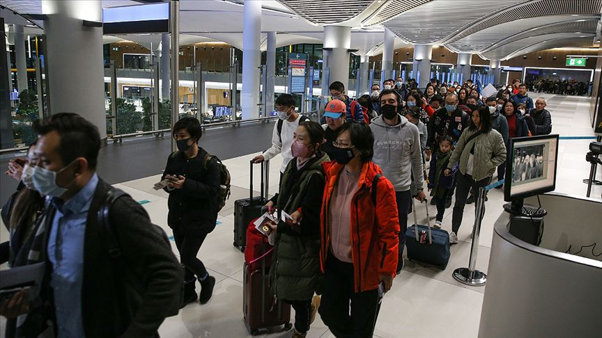 Çin'den gelen yolcular termal kameralarla kontrol edildi