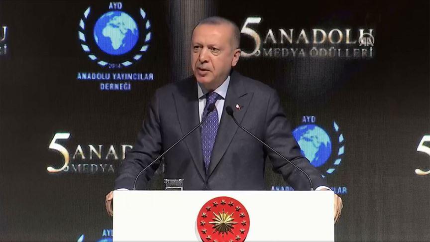 Cumhurbaşkanı Erdoğan: 'Yüzyılın Anlaşması' bir işgal projesidir