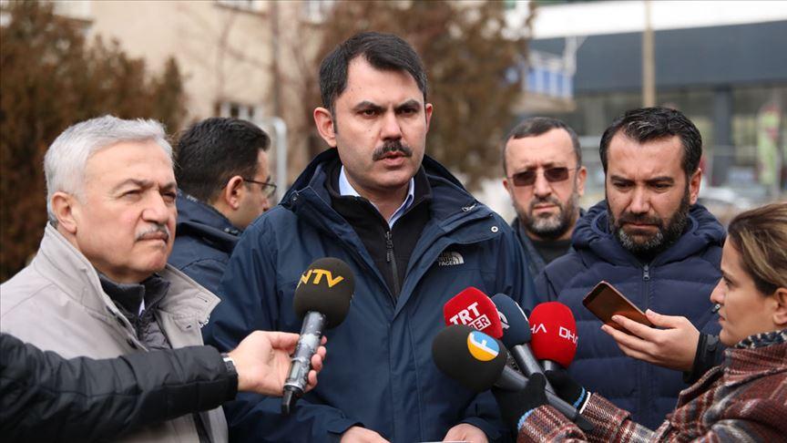 Çevre ve Şehircilik Bakanı Kurum: Elazığ'ın röntgenini çekiyoruz