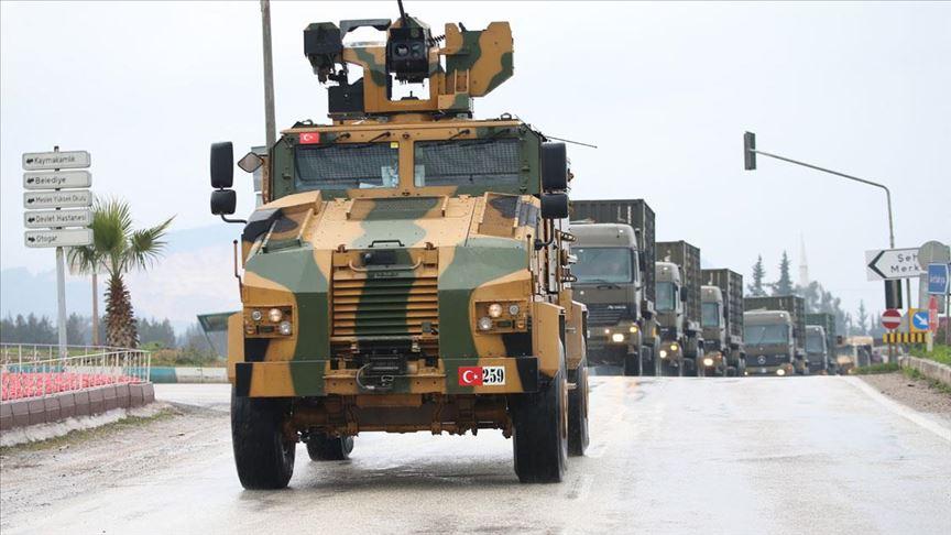 Suriye sınırına 100 araçlık askeri konvoy gönderildi