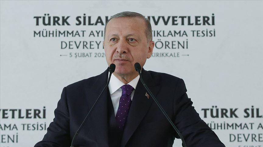 Cumhurbaşkanı Erdoğan: HİSAR-A Füze Sistemi'ni mümkünse hemen Suriye sınırımıza yerleştirereceğiz