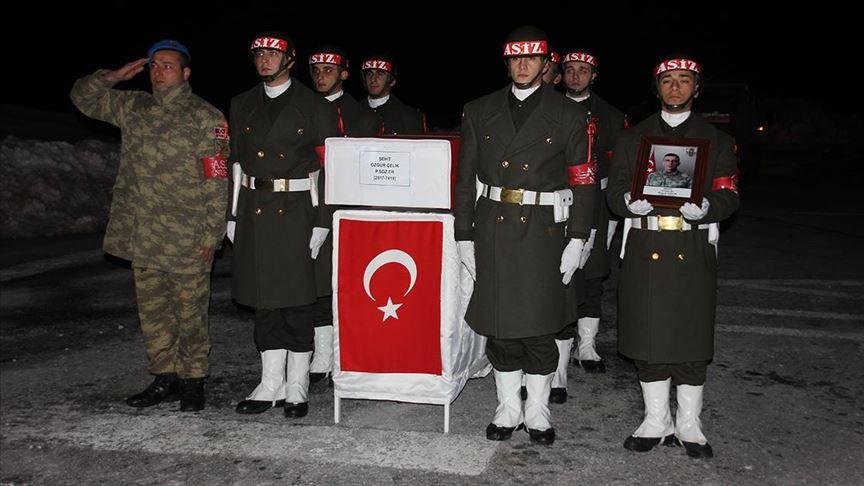 Hakkari'de şehit asker için tören yapıldı