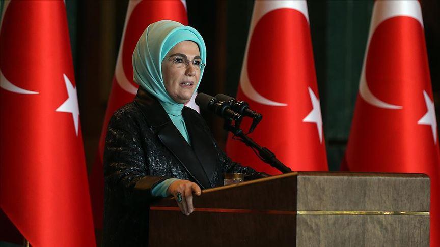 Emine Erdoğan'dan 'DAYANIŞMA' mesajı